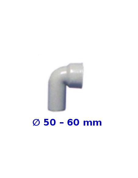 Raccordo curvo HTSW  senza morsetto _ 50 – 60 mm in polipropilene grigio