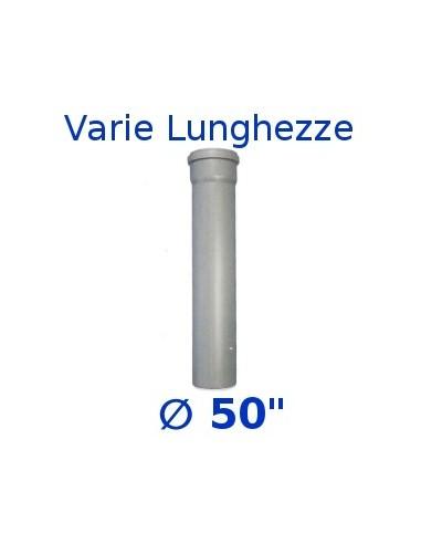 "Tubo HTEM polipropilene grigio _ 50""  1 bicchiere misure varie"