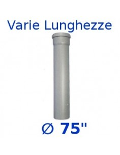 Tubo HTDM polipropilene grigio _  75 1 bicchiere