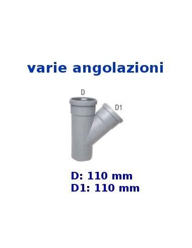 Braga HTEA in polipropilene _ 110-110 mm, angolazioni varie