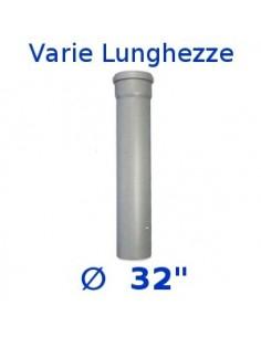 Tubo HTEM polipropilene grigio ∅ 32 1 bicchiere gitab
