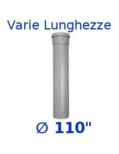 Tubo HTDM polipropilene grigio _ 110 1 bicchiere gitab